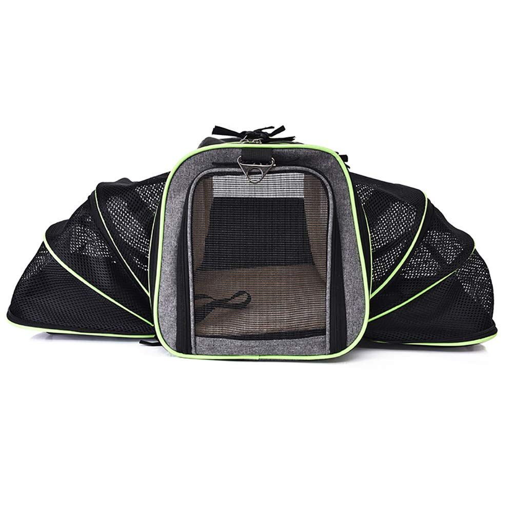 Black Pet Carrier Backpack Premium Portable Soft -Side Pet Travel Carrier for Dog Cat, for Traveling, Dating and Camping, Black
