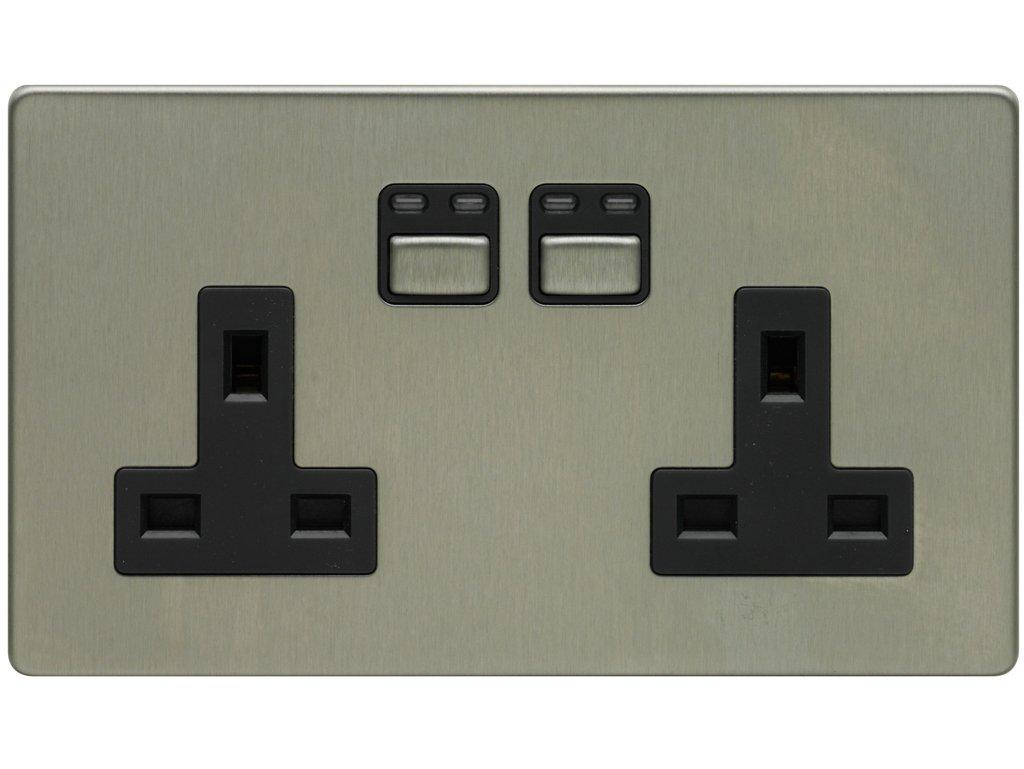 2321 Rabalux pr/áctico enchufe con interruptor de pared con blanco