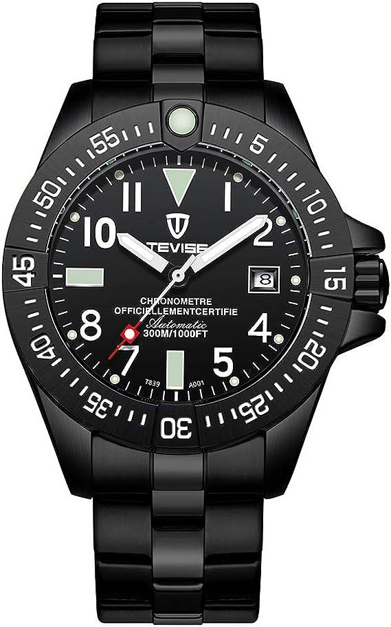 TEVISE Business Men Automatic Mechanical Watch Calendar Time Display Fashion Casual Luminous Hands Waterproof Male Wristwatch