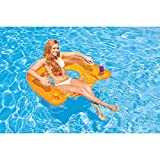 "Intex Sit N Float Inflatable Lounge, 60"" X 39"", 1 Pack (Colors May Vary) Variant Image"