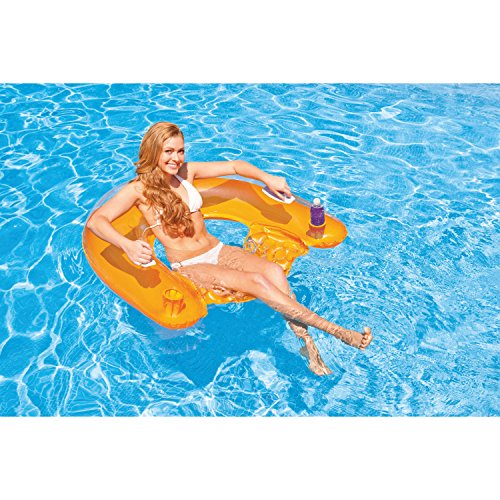"Intex Sit N Float Inflatable Lounge, 60"" X 39"", 1 Pack (Colors May Vary)"