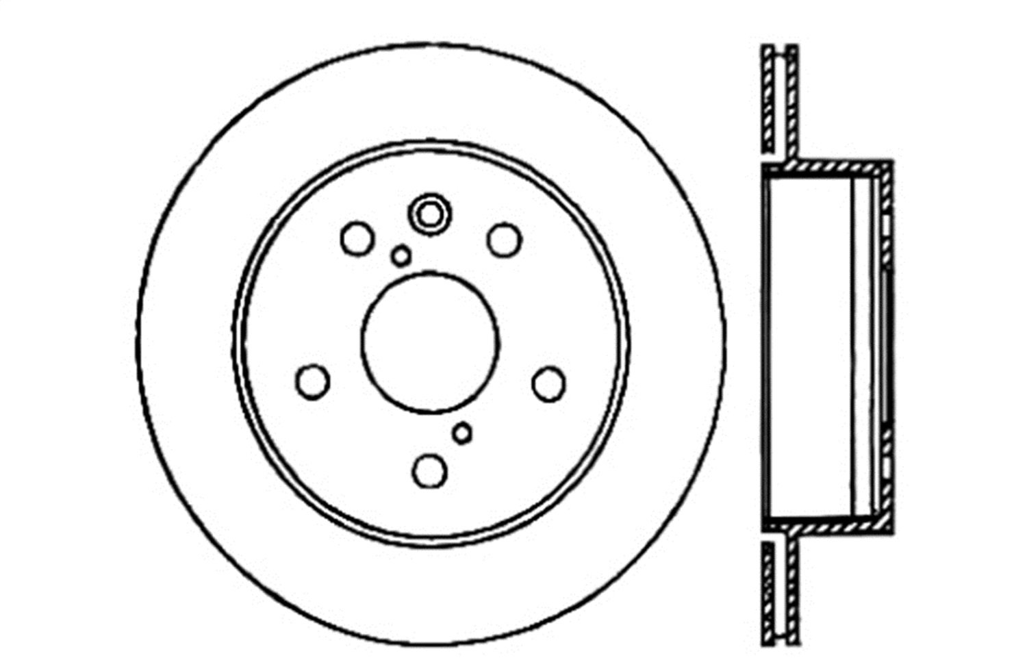 StopTech 128.44141R Sport Cross Drilled Brake Rotor Rear Right 1 Pack