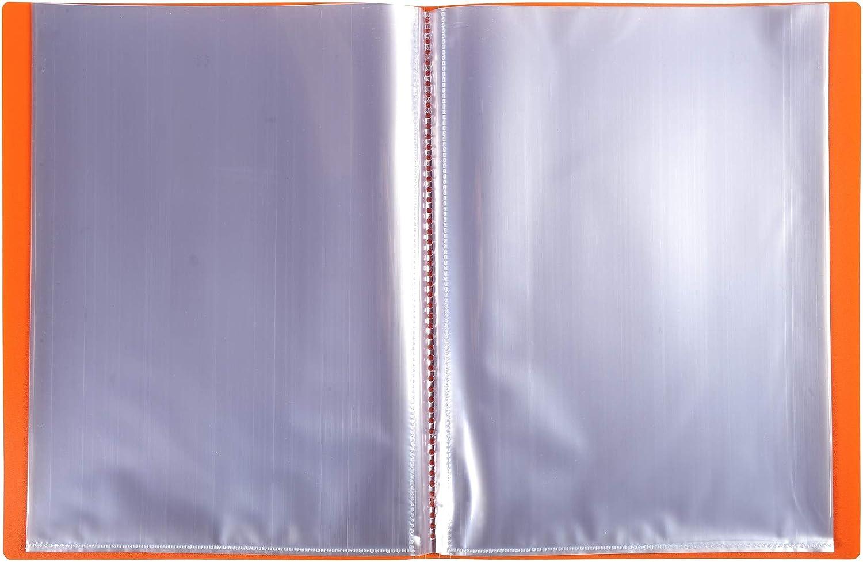 Formato A4 Colore  pastello blu corallo malva rose verde Exacompta 88660E Portalistini Opak in polipropilene opaco con buste interne lisce ad alta trasparenza 60 buste e 120 facciate