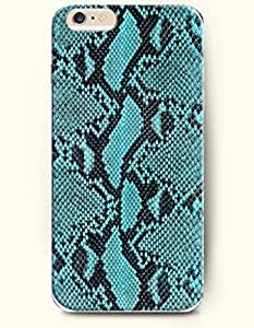 For SamSung Galaxy S6 Case Cover Case with of Turquoise And Black Serpent Grain - Snake Skin Print -Authentic Skin