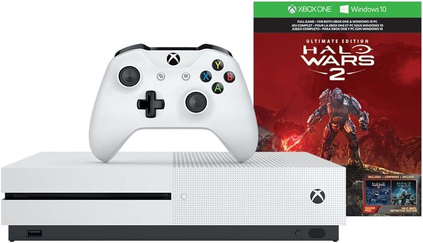 Amazon com: Xbox One S 1TB Console - Halo Wars 2 Bundle + Play