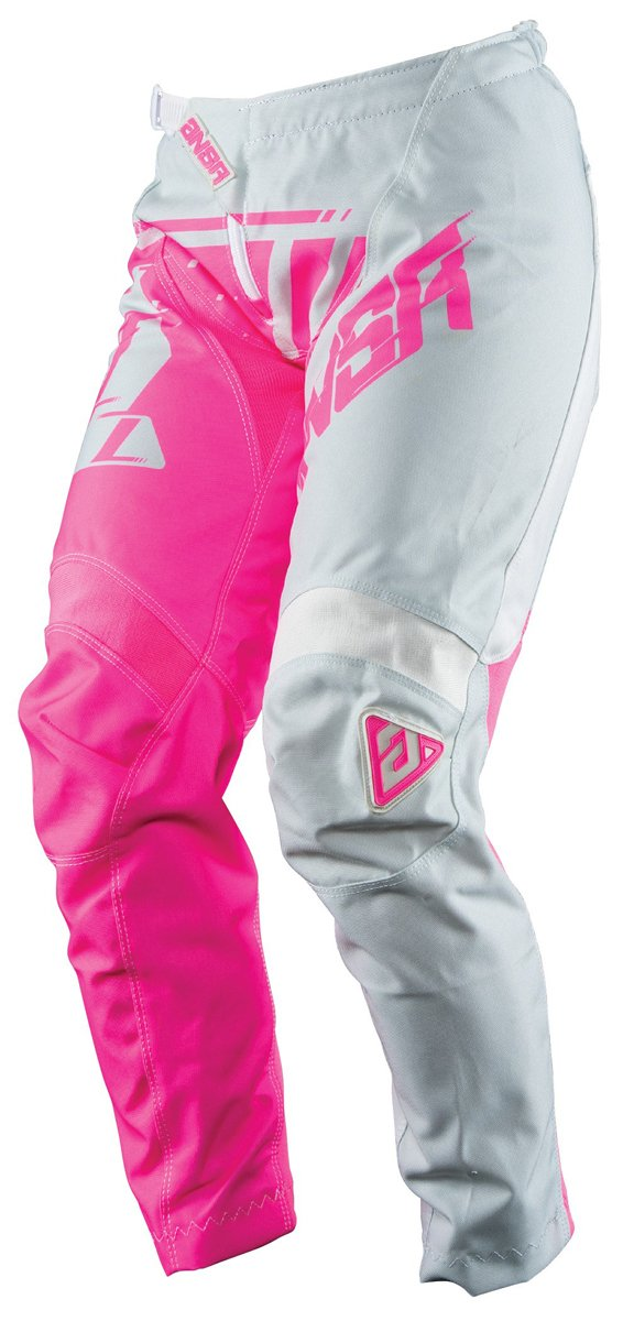 Answer Racing A18 Syncron Women's Off-Road Motorcycle Pants - Grey/Pink / Size 4
