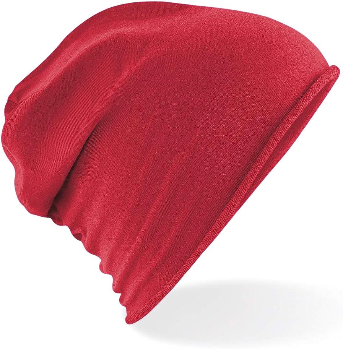 CHEMAGLIETTE Cappellino Leggero Cuffia Oversize Elasticizzata Cotone Morbido Beechfield B361