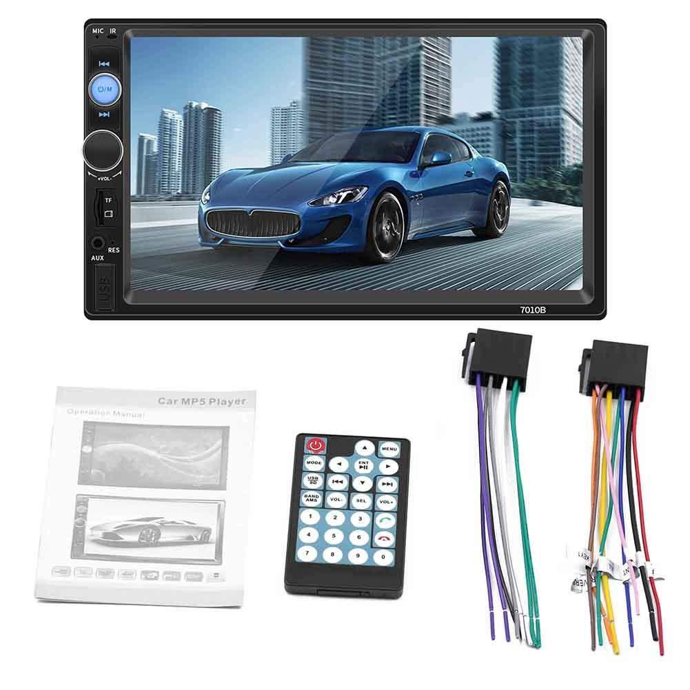Radio esté reo para Auto Bluetooth 2 DIN 7 Pulgadas HD MP5 Reproductor de FM Pantalla tá ctil Conexió n de la cá mara Compatible con el Sistema Android iOS Roful