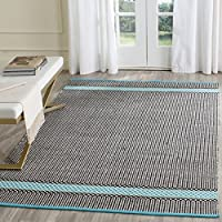 Safavieh Montauk Collection MTK820H Handmade Flatweave Turquoise and Multi Cotton Area Rug (5 x 7)