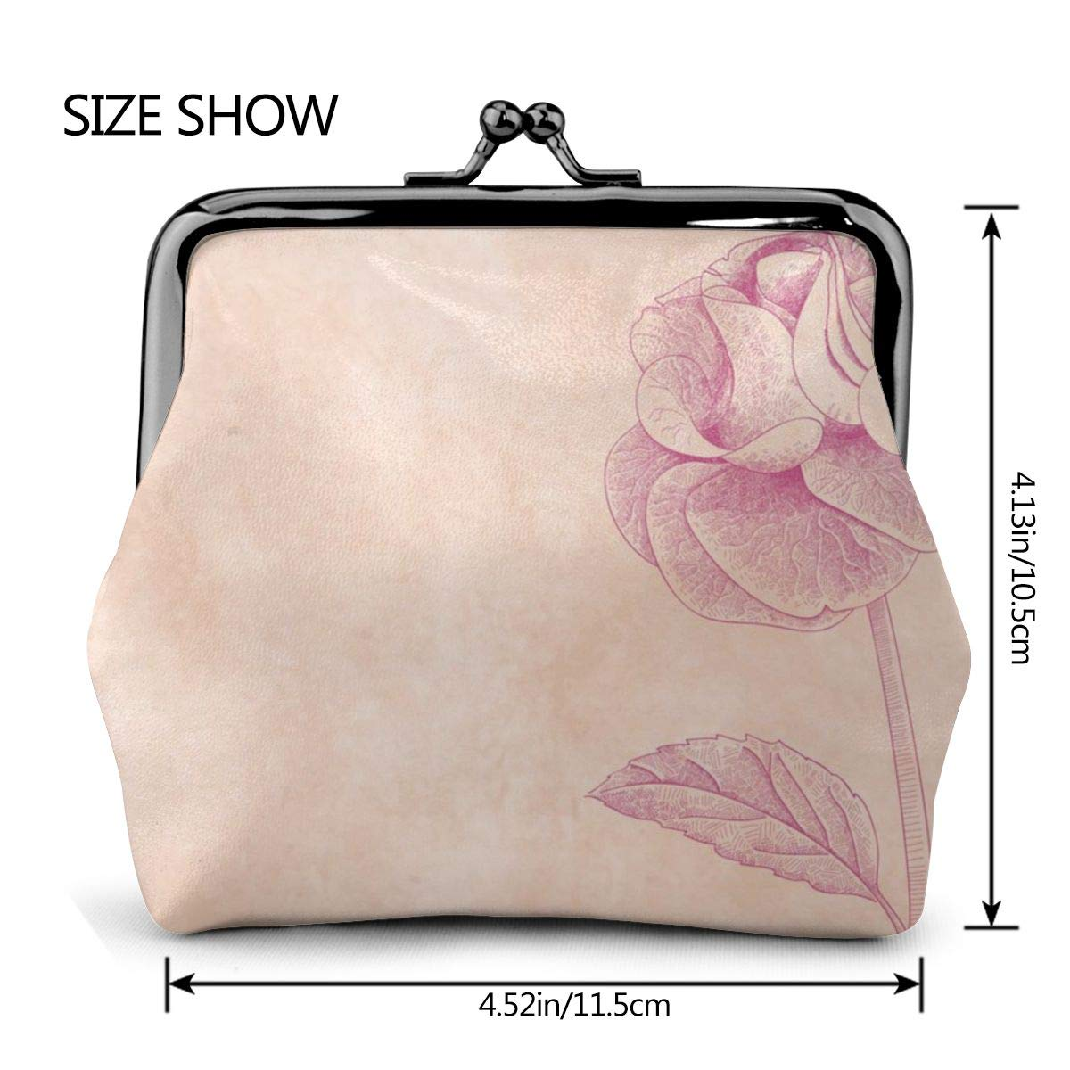 Amazon.com: Yunshm Rose On Pink Paper Leather Classic Floral ...