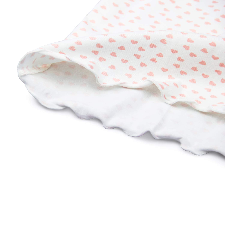 HOYMN Little Girls Toddle Nightgown Cotton Princess Heart Print Sleep Shirts Long Short Sleepwear Nightdress for 3-12 Years