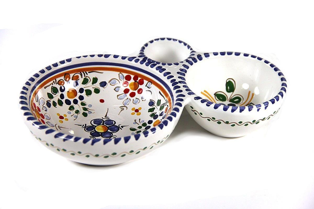 El Puente del Arzobispo Colorful Flor Ceramic Olive Dish