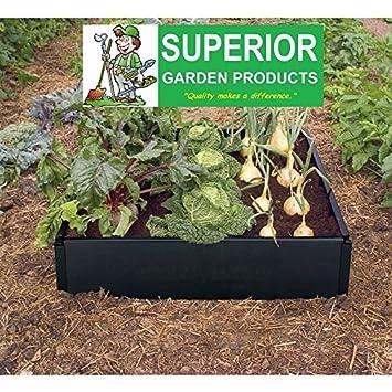 Productos de jardín ® Kit para cama de cultivo en resistente al agua 100% reciclado negro plástico. No se necesitan herramientas.: Amazon.es: Jardín