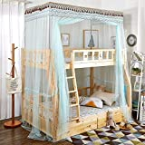 XRXY Mosquito Net Creative Net Yarn Bunk Bed Mosquito Net/Square Top Floor-Standing Children Adult One-Piece Mosquito Net/Encryption Practical Lace Mosquito Net (5 Colors Available)