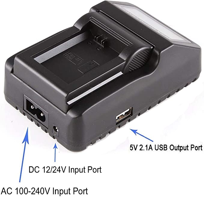 estación de carga para Sony dcr-hc23e dcr-hc24e Cargador