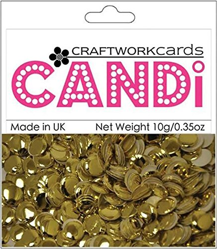 Craftwork Cards - Craftwork Cards Candi Dot Printed Embellishments, 0.35-Ounce, Regal Gold