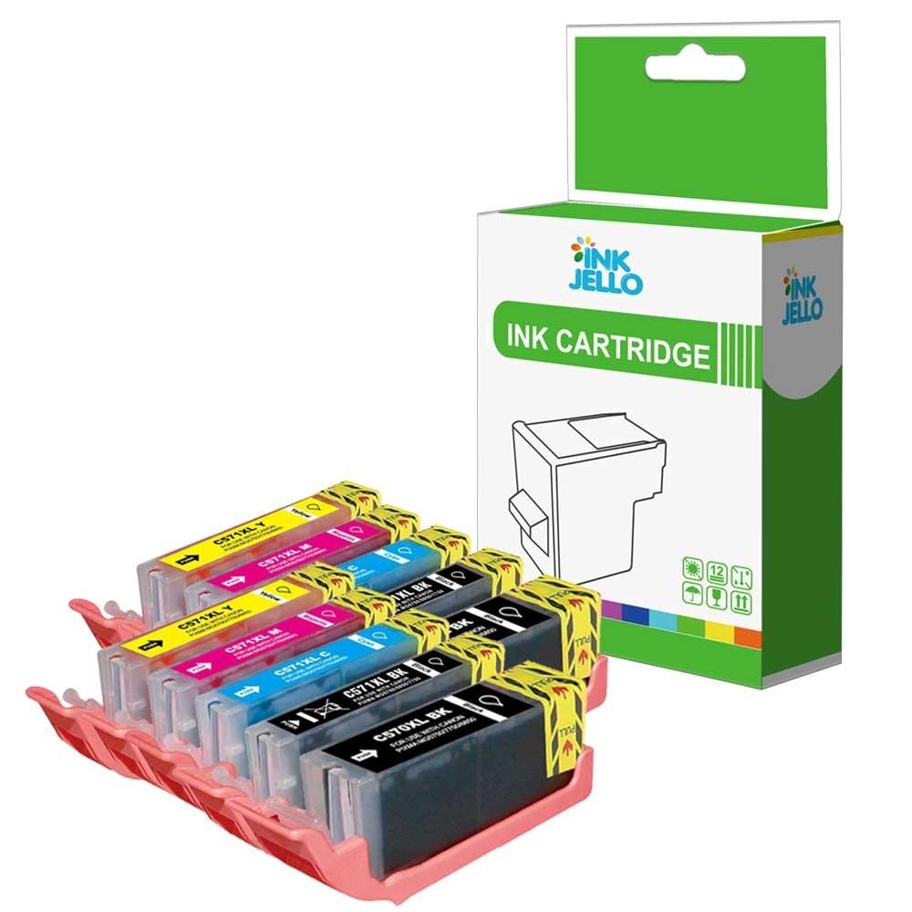 InkJello Compatible Tinta Cartucho Reemplazo para Canon Pixma ...