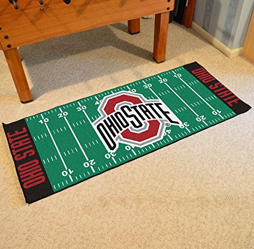 (Fan Mats Ohio State University Buckeyes Team Emblem Football Field Runner/30