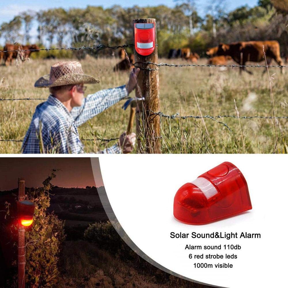DokFin Luz Estroboscópica Solar, Sensor De Movimiento 110db ...