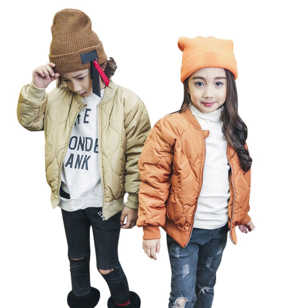 Franterd Toddler Kids Brother Sister Winter Warm Coat Cardigan Outwear Clothes Cotton Jackets for Baby Boys Girls