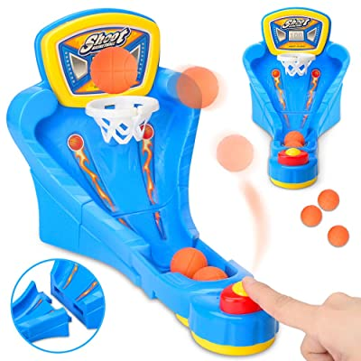 Deerbb Mini Desktop Basketball Game Table Finger Ejection Shooting Machine Children's Educational Parent-Child Interactive Toy: Toys & Games