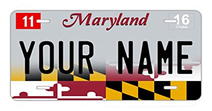 tm Auto Bleureign Car Name Personalized License Maryland 2017 Custom Tag Available Plate Vehicle States all State