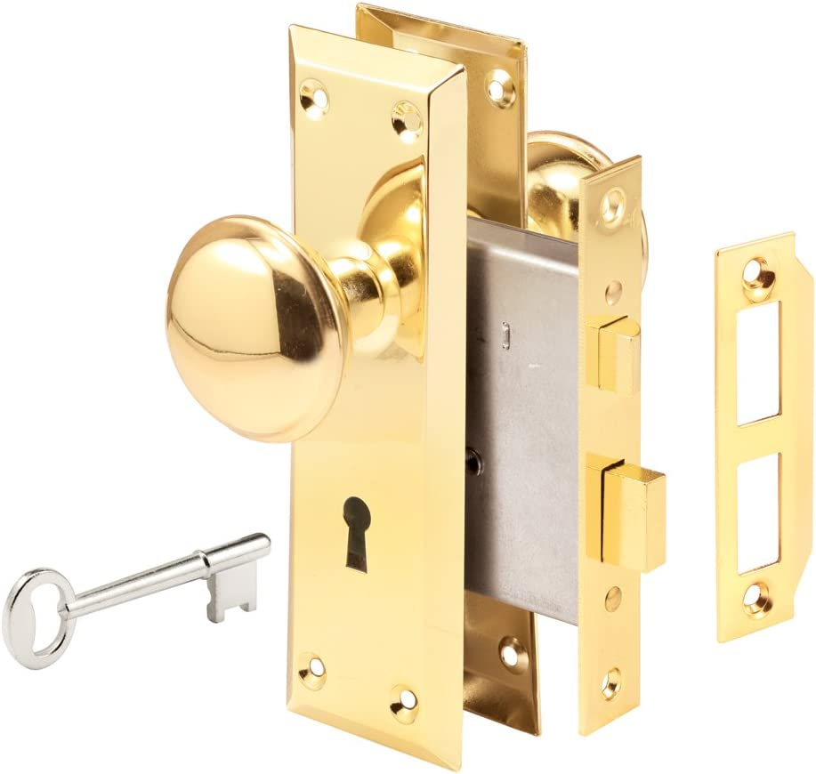 """Prime-Line Products E 2293 Mortise Lock Set, 1-3/8"""" x 1-3/4"""", Brass"""