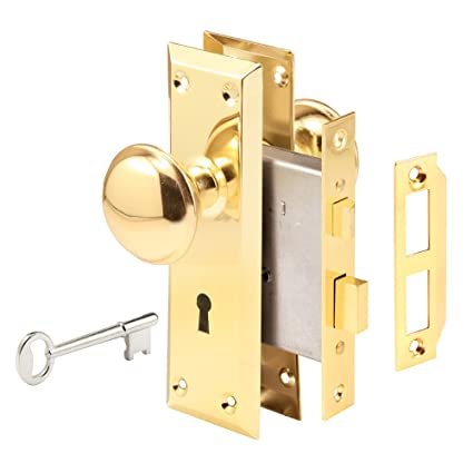 Prime Line Products E 2293 Mortise Lock Set 1 3 8 X 1 3 4 Brass