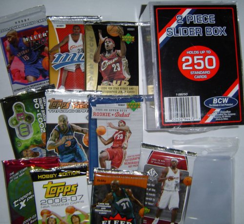 Basketball Card Pack Gift Set - Sports Cards Birthday or Christmas Lot - 10 Different Unopened Basketball Packs from the Recent Past! Pull Rookies, Autographs or Memorabilia Cards ??? - Comes with Storage Box and Sleeves - Sportscards & Trading Cards Collecting