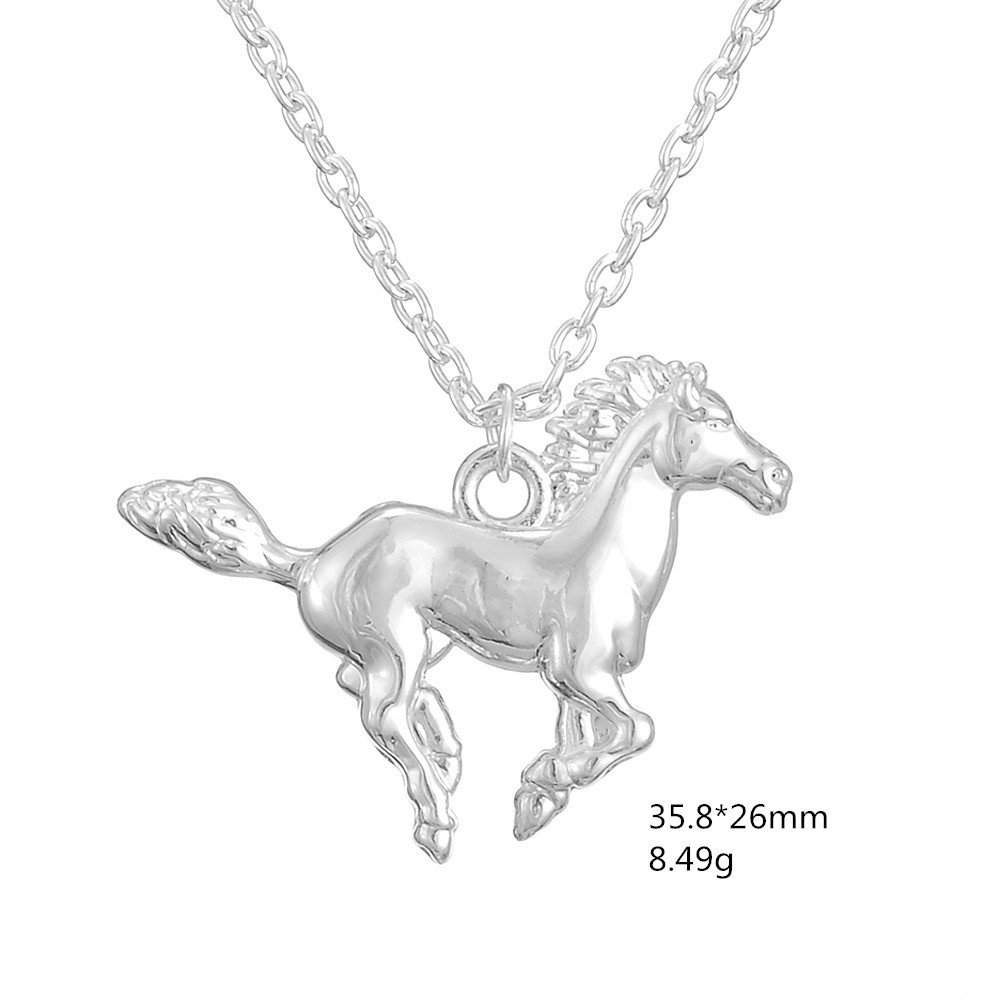 Amazon.com: Silver Tone Horse Pendant Necklace Best Christmas ...