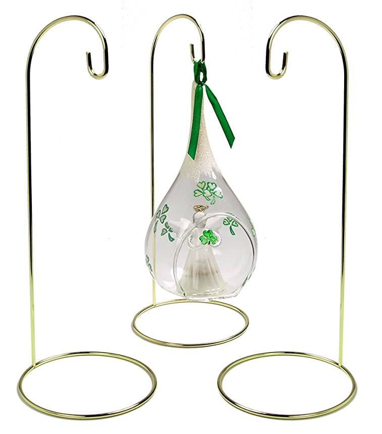 e34b40aea45069 Christmas Wire Ornament Stands Display Holder Gold Colored - 11