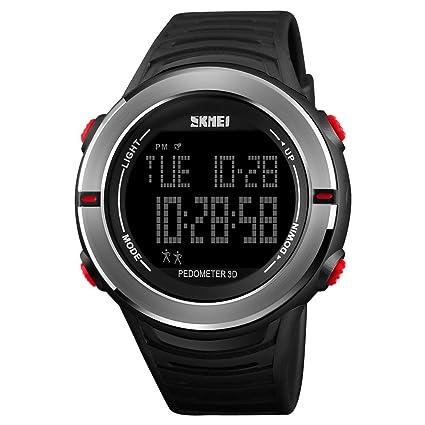 IKVRU SmartWatch para Hombres, Relojes Militares Reloj de Pulsera Digital Casual LED multifunción Relojes Deportivos
