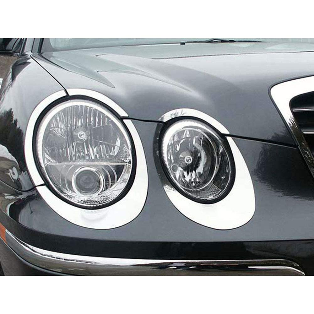 Brighter Design 10p Stainless Steel Headlight Trim fit for 2004-2006 Kia Amanti 4DR