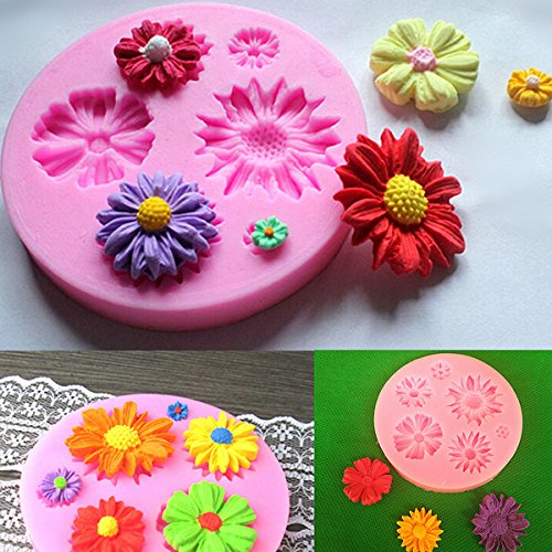- Silicone Flower Mold Cake Decorating Chocolate Sugar Craft Mould by MERRY BIRD