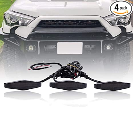 Amazon.com: Runmade - Parrilla frontal LED para Toyota ...