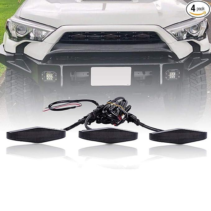 Amazon.com: Runmade - Parrilla frontal LED para Toyota ...