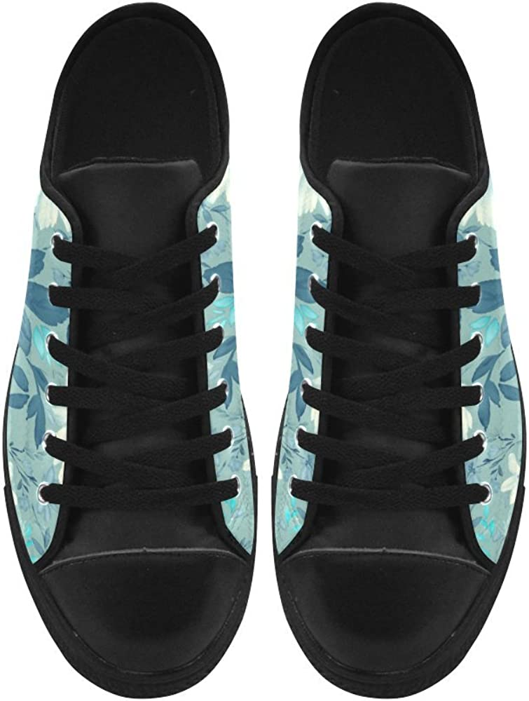 HUANGDAISY Black and White Elephants Pattern High Top Action Leather Mens Shoes