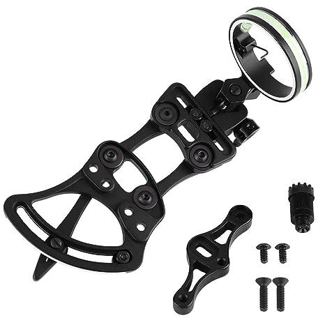 Adjustable Compound Bow Sight 5Pin Aluminum Archery Accessory w// Light