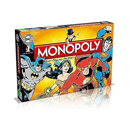 Winning Moves Games DC Comics Retro Monopoly Board Game -