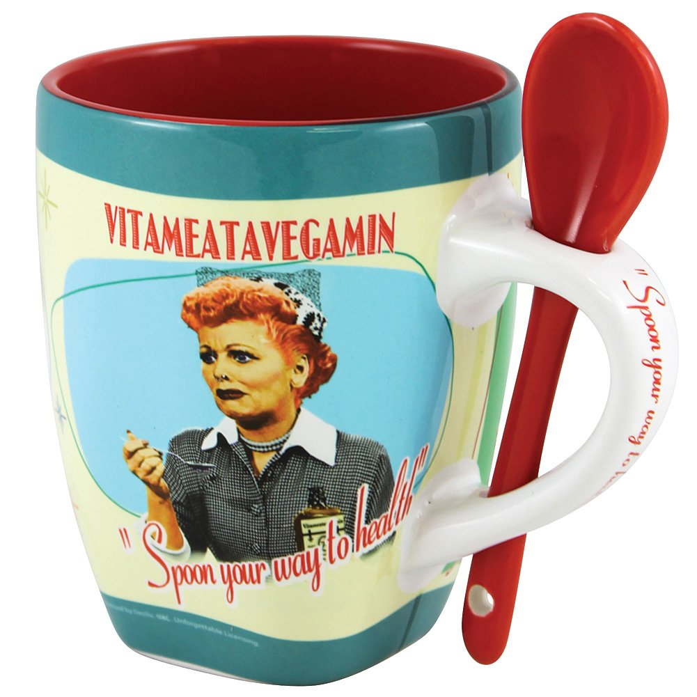 I Love Lucy Vitameatavegamin Mug With Spoon