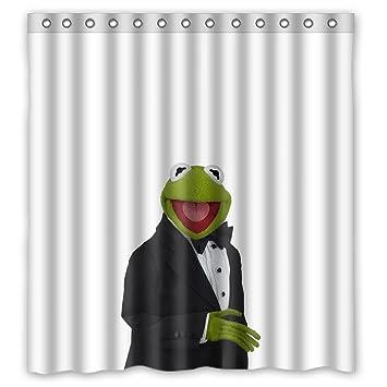 Wunderbar Custom Wasserdicht Badezimmer Duschvorhang DIY Süß Und Lieblich Kermit  Cartoon Design, Mehrfarbig, 66 Inches
