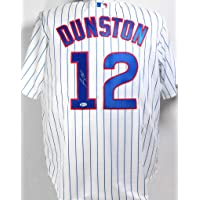 $135 » Shawon Dunston Autographed Chicago Cubs Pinstripe Majestic Jersey - Beckett Auth 1