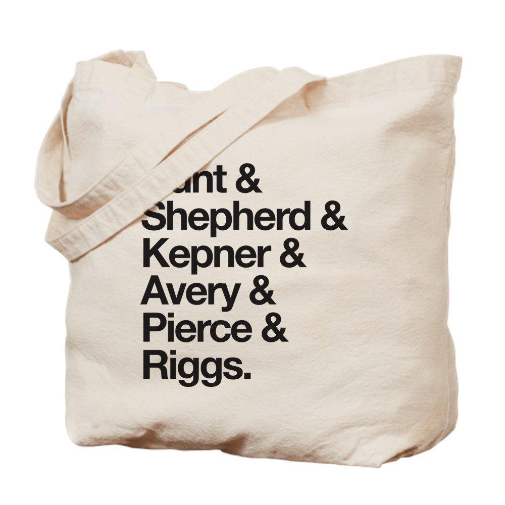 CafePress – グレーの文字最後名 – ナチュラルキャンバストートバッグ、布ショッピングバッグ M ベージュ 2020510721E9484 B078TJTB5N  M