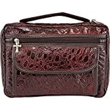 Embassy Alligator Embossed Burgundy Genuine Leather Bible Cover