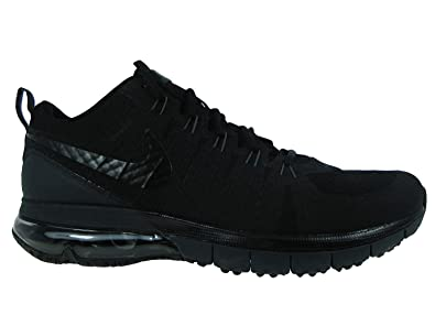 60f7eee054d6 NIKE Men s Air Max TR180 Black Black   Anthracite Mesh Cross-Trainers Shoes  7.5