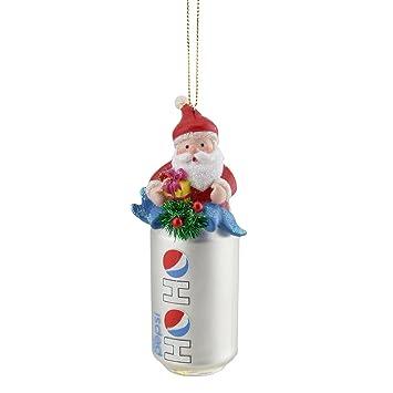 "4.75"" Silver ""Ho Ho"" Diet Pepsi Can with Santa Topper  Decorative Glass - Amazon.com: 4.75"