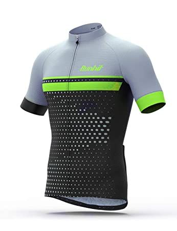 77217d5aba0 Amazon.com: Runhit Men's Cycling Jersey, Breathable Quick Dry, Reflective  Strip Bike Short Sleeve with 3 Rear Pockets UV Protection Biking Shirt for  Men: ...