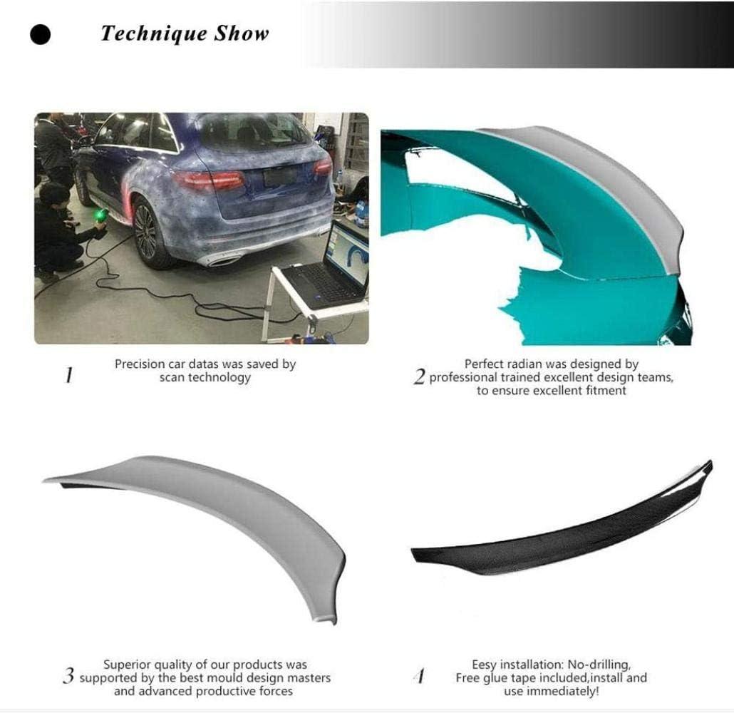 QTCD Becquet de Coffre arri/ère en Fiber de Carbone pour Audi S5 coup/é 2008-2016 becquet arri/ère aileron daile arri/ère Couvercle de Coffre Sortie dusine