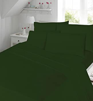 Percale Fitted Sheets Non Iron Bed Sheets New King Size 180 Tread Count  Plain Dyed High
