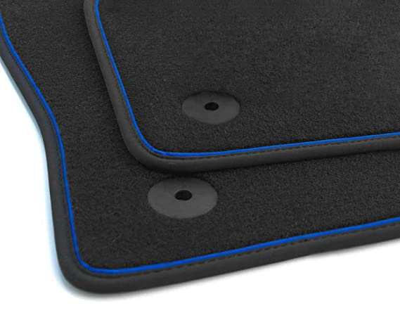 NEU Fußmatte Seat Ibiza 5 6F KJ Autoteppich Premium Tuning Zierband Rot 2-teilig